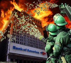 Bank Bailouts - Dees Illustration Artwork