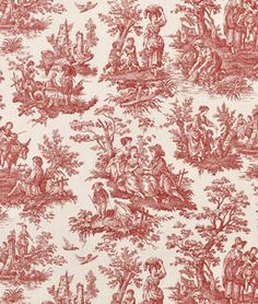 Shop Waverly Country Life Toile Garnet Fabric at onlinefabricstore.net for $19.55/ Yard. Best Price & Service.
