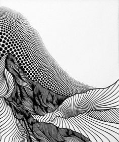 Ink Drawings Pointillist Line Drawings of Mountains by Christa Rijneveld - Artist Christa Rijneveld combines pointillism with lines to create unique depictions. Her line drawings of mountains celebrate Canada's landscape. Texture Drawing, Line Drawing, Abstract Drawings, Art Drawings, Parametrisches Design, Grafik Art, Illustration Art Nouveau, Mountain Drawing, Art Watercolor