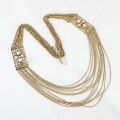 Vintage Rhinestone Faux Pearl Multi-Layered Sweater Chain Necklace For Women, AS THE PICTURE in Necklaces | DressLily.com