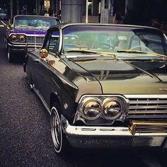 6 deuce and 6 foe 1962 Chevy Impala, 64 Impala, Chevrolet Chevelle, Retro Cars, Vintage Cars, My Dream Car, Dream Cars, Old School Cars, Sport Cars