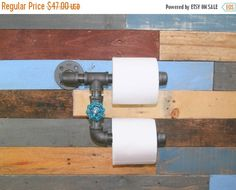 10% OFF Industrial Toilet Paper Holder, Industrial Decor, Man Cave, Toilet Paper Rack, Industrial Style, Steampunk, Industrial Bathroom, Res by TheCleverRaven on Etsy