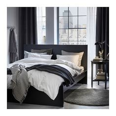6 Trendy Scandinavian Winter Must Haves for the Bedroom / Ikea – NinetyFourDesigns, ikea is everyones favorite home decor store. Its simple, minimalistic and very affordable. One of the best things of ikea is that their style often r. Single Bedroom, White Bedroom, White Duvet, Monochrome Bedroom, Luxury Bedroom Furniture, Bedroom Decor, Luxury Bedding, Bedroom Ideas, Ikea Bedroom