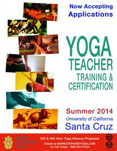 200-Hour: July 11-31, 2014 500-Hour: August 8-28, 2014 Please visit the Yoga Teacher Training pages for details!