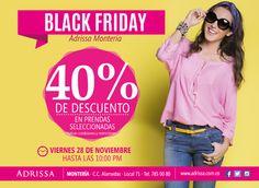 Mañana no te puedes perder los #DESCUENTOS BLACK FRIDAY / ADRISSA / Alamedas CC #Piensaenti