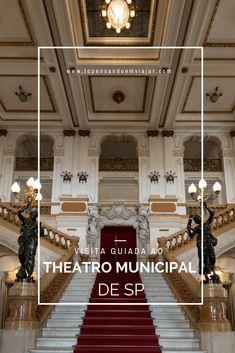 Você sabia que pode fazer uma visita guiada grátis ao Theatro Municipal de São Paulo, um dos cartões postais de Sampa?!