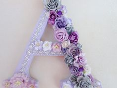 Custom name letter Flower letter Nursery wall letter Purple letter A Christmas gift Personalized letter Girls room decor Wall decor by PreciousGiftsbyDiane on Etsy Wall Decor Crafts, Letter Wall Decor, Nursery Letters, Diy Letters, Letter A Crafts, Flower Wall Decor, Decorative Letters For Wall, Room Decor, Diy Crafts