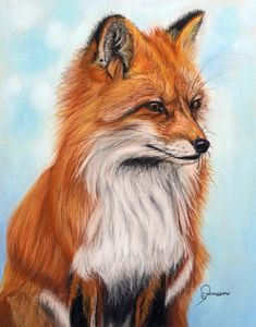 Fox Painting, Christmas Card Holders, Original Artwork, Poster Prints, Animals, Studio, Cards, Products, Animales