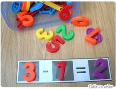 Number sentences for addition or subtraction. I would add manipulatives with the sentences to help with activity.