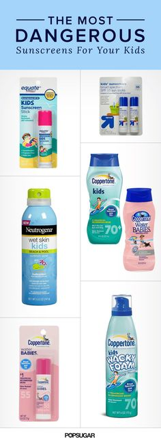 Healthy Child released a list of the 13 sunscreens with the worst EWG ratings for 2016 to alert parents.