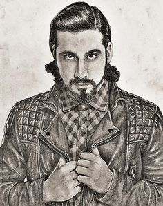 My Drawing of Avi Kaplan from Pentatonix