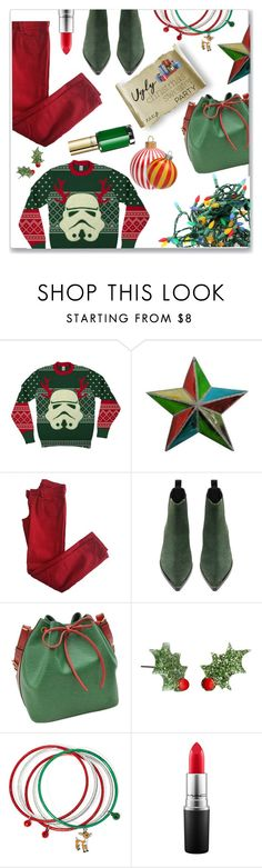 """""""out of this world"""" by jckallan on Polyvore featuring Martha Stewart, Comptoir Des Cotonniers, Acne Studios, Louis Vuitton, MAC Cosmetics, L'Oréal Paris and uglychristmassweater"""