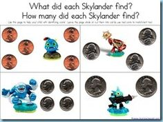 Skylanders homeschool printables