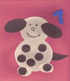 Seven Spots on the Dog Craft. Could do a different number for each student. 0-20. Each student is assigned a different number of spots.. The number is written on the dog's collar (have to add a simple collar)