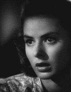 Ingrid Bergman: That face. it was her most vital instrument. She told such vivid stories along the lush hills and beauteous plains of it. She brought music. She brought drama. She brought Ingrid! Ross Loved you the first time I saw your face . Classic Hollywood, Old Hollywood, Casablanca 1942, Swedish Actresses, Isabella Rossellini, Old Movie Stars, Ingrid Bergman, Humphrey Bogart, Classic Films