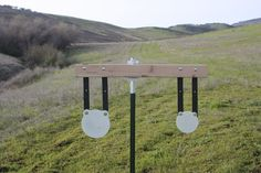 Our Steel Target brackets are an inexpensive and easy way to hang steel targets using t post. Heavy duty galvanized steel construction and made in the USA. Steel Targets, Steel Shooting Targets, T Post Fence, Steel Target Stands, Bow Target, Shooting Range, Shooting Sports, Rifle Targets, Diy Hanging