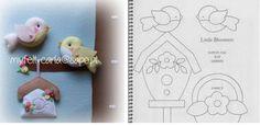 ARTE COM QUIANE - Paps,Moldes,E.V.A,Feltro,Costuras,Fofuchas 3D: passarinho de feltro com molde