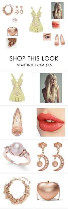 """lemon"" by asoles2011 ❤ liked on Polyvore featuring For Love & Lemons, Nina, Charlotte Tilbury, Jacquie Aiche, Oscar de la Renta, MICHAEL Michael Kors and Morphe"