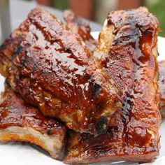 Whiskey  BBQ Ribs (no need for the mustard) we had friends over for a sample party. (Everyone brings something to feed a few) not like a traditional potluck. I made these and everyone loved them.