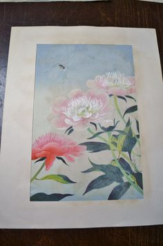 Bakufu Ohno Pink White Flowers Bumblebee Floral by PanchosPorch