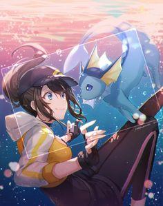 ◇ Girl... Underwater... Female Protagonist... Pokémon... Pokémon GO!... Blue Eyes... Smile... Anime ◇