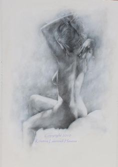 Classic Black and White Charcoal Drawing of the Figure - Large Fine Art Print. $30.00, via Etsy.