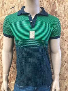 Playera tipo polo Tnt Jeans Mens Polo T Shirts, Boys T Shirts, Golf Fashion, Mens Fashion, Golf Wear, Golf Outfit, My T Shirt, Ganesh, Lacoste