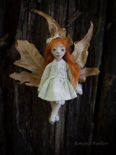 Mini Ginger by RomanticWonders on Etsy Ooak Dolls, Art Dolls, Handicraft, Romantic, Etsy Shop, Christmas Ornaments, Holiday Decor, Mini, Handmade Gifts
