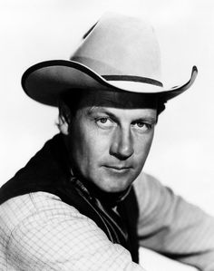 Joel Mccrea  [1905 - 1990]  as 'The Virginian'. He was a star of many American Westerns, and a very popular leading man in non-Westerns as well.
