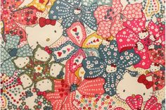 Liberty tana lawn Mauvey Hello Kitty printed in Japan by lilymeru