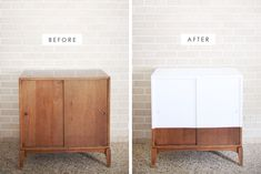 simple record cabinet makeover- Making Nice in the Midwest #midcentury #home #decor #diy #make #furniture #apartment