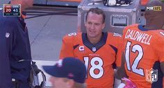 New party member! Tags: football nfl thumbs up denver broncos broncos peyton manning thumbs down