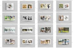 Wedding Photo Album Template-V485 by Template Shop on @creativemarket
