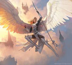Character Art, Character Design, Medieval, Mtg Art, Angel Drawing, Les Themes, High Fantasy, Angels And Demons, Human Art