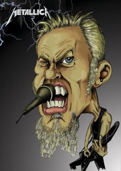 | James Hetfield Drawing by Ivan Sabolic