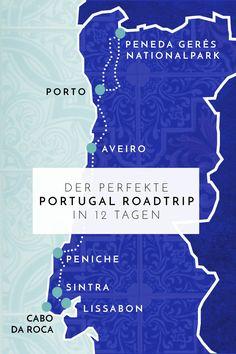 Der perfekte Portugal Roadtrip in 12 Tagen: Die schönsten Städtchen, einsamsten Strände, spektakulärsten Wanderungen & das leckerste Essen Usa Roadtrip, Roadtrip Europa, Portugal, Cabo, Travel Guides, Trip Planning, Road Trip, Around The Worlds, How To Plan