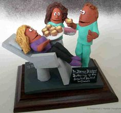 Custom Dental Figurines make Great Dentist's Gifts Gifts For Dentist, Doctor Gifts, Dental Hygienist, Office Gifts, Dentistry, Cake Toppers, Unique Gifts, Graduation, Birthday Cake
