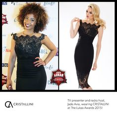 #Elegant #littleblackdress with Chantilly Jean Bracq lace inserts and amazing hand-sewn floral embroidery! Gorgeous TV and radio presenter, Jade Avia, was a charming and seductive appearance in a refined #CRISTALLINI #cocktail #dress, while hosting The Lukas Awards 2015! #cristallini #cristallinidresses #famous #eveningstyle #cocktaildresses #blackdress #embroidery #dresses #glamour #photooftheday #fashion #fashionista #style #fashionstyle #romaniandesigner #luxury #redcarpetstyle