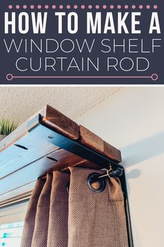 A DIY tutorial for how to frame a wall with an over the window shelf and hang curtains at the same time. A simple + easy tutorial for building a window shelf curtain rod combo perfect for plants, decor or nothing at all. #diyshelf #buildashelf #windowshelf #2x4projects #curtainrodshelf #kenyarae #kenyamadeit