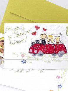 Invitatie nunta si botez mirii si carutul cu bebe 5019 • Cataloginvitatii Weddings, Bebe, Wedding, Marriage