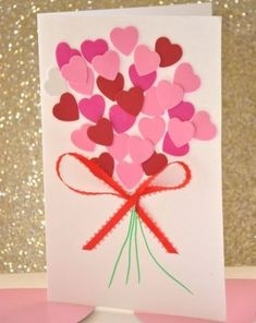 Valentine's Day is adorned with numerous craft specialties. Handmade crafts infuse Valentine's Day with a special color. Numerous easy-to-make craft … Kids Crafts, Valentine Crafts For Kids, Valentines Day Activities, Mothers Day Crafts, Valentines For Kids, Craft Activities For Kids, Preschool Crafts, Valentine Cards, Glue Crafts