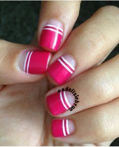 Square half moon nails