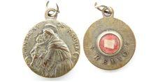 Vintage Saint Anthony Relic Catholic Medal - Touched to the Tongue - Religious Charms - Patron Saint Relique by LuxMeaChristus