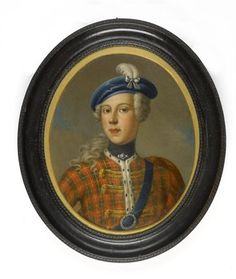 "Portrait Miniature of ""Bonnie Prince Charlie"" in Highland Dress. Circa Early to Mid-18th Century. Dullep Singh Collection."