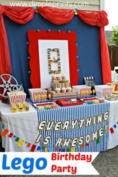 Lego Movie themed Birthday Party from DimplePrints