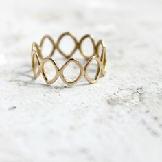 Unique gold wedding band 14k yellow gold Leaf by moiraklime, $148.00
