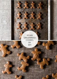 "Vegan gingerbread cookies. Couldn't link directly to original source. Darn ""pin it"" button."