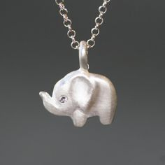 This sterling silver necklace with diamond eye is part of our #SaveElephants Collection, which is a partnership with the Clinton Foundation. 10% of proceeds will be donated to Wildlife Conservation Society, The Nature Conservancy and Conservation International all designed to save African elephants.