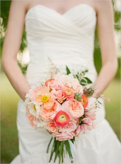 peach wedding buoquets | from the bride i m a simple girl who simply wanted to marry the most ...