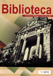 Bibliotecarii USARB:  Profesional: Achiziţii noi: Biblioteca: revista de bibliologie ...